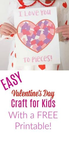 Easy Valentine's Day Craft with Free Printable - Easy Valentine activities, The Chirping Moms
