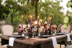 aaaand i think i found what I want my wedding to look like......Moody Dark Purple Wedding Inspiration