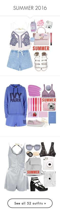 """""""SUMMER 2016"""" by darling-ange1 ❤ liked on Polyvore featuring New Look, River Island, Fujifilm, Vanessa Mooney, Sephora Collection, Topshop, Hanky Panky, Monki, Axel Arigato and H&M"""