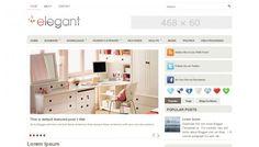 Elegant - magazine style blogger template