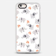 Happy Elephants Case - protective iPhone 6 phone case in Clear and Clear by Wonder Forest | If elephant didn't exist, you couldn't invent one! >>> https://www.casetify.com/product/happy-elephants-case-by-wonder-forest/iphone6s/new-standard-case#/177607 | @casetify