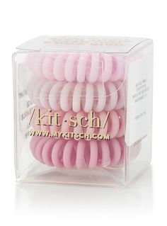Matte pink telephone-cord elastics Set of 4 Makeup 101, Matte Pink, Trendy Hairstyles, Hair Ties, Ties Online, Women Accessories, Telephone, Scrunchies, Kitsch