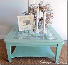 turquoise table redo