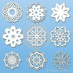 Fiocchi di neve di carta messi