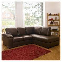 Buy Ashmore Leather Corner Sofa, Brown Right Hand Facing from our Corner Sofas range - Tesco.com