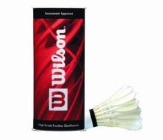 Wilson Badminton Feather Shuttlecocks / Birdies (Set of 2 Tubes) by Wilson. Save 5 Off!. $18.95. High-grade goose feathersSuperior durabilityUltimate flight and speedTournament approved Racquet Sports, Badminton, Feather, Outdoors, Quill, Feathers, Furs, Outdoor