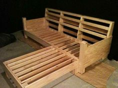 make wooden couch