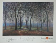 the greening by tom heflin - lithographic print from retrospective exhibit poster at Rockford Art Museum, IL