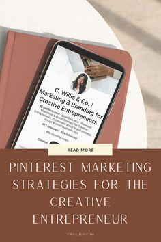 Learn the best Pinterest strategies, tips & tricks for your creative business as an entrepreneur. Learn how to advertise your small business with the right Pinterest strategies so you can grow your business & make money! Head to the blog post today to find out more. | creative marketing | make money on pinterest | pinterest tips and tricks | blogging for business | pinterest marketing strategies social media| pinterest marketing strategy for bloggers | #pinterestmarketingtips #pinteresttips Business Marketing, Social Media Marketing, Marketing Strategies, Digital Marketing, Creative Business, Business Tips, Online Business, How To Start A Blog, How To Make Money