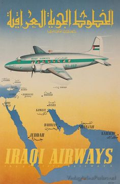 Iraqi Airways vintage ad  ↩⌸ds   https://de.pinterest.com/pin/566749934337413261/