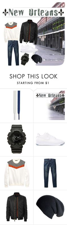 """""""143"""" by melli-ssa ❤ liked on Polyvore featuring NIKE, G-Shock, Sean John, MANGO, LE3NO, Black, men's fashion, menswear, outfit and ownthelooks"""