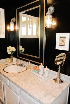 42 best black and gold bathroom images bathroom powder. Black Bedroom Furniture Sets. Home Design Ideas