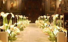 decoracao-igreja casamento-copo de leite e velas