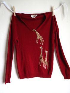 Peek a boo giraffe sweater by masklg on Etsy