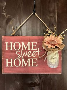 : Home sweet country sign rustic country distressed, wooden sign spring decoration pink . - Home sweet home sign rustic country distressed, wooden sign spring decoration pink, rustic home dec - Decoration Hall, Decoration Photo, Decoration Christmas, Decoration Bedroom, Decoration Design, Spring Decorations, Decor Room, Rustic Christmas, Wall Decor