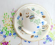 lovely china trio in the linden pattern no. 8162 by tillyandarthur