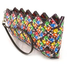 Purse made from recycled candy wrappers!