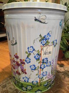 30 Gallon Decorative Hand Painted  by krystasinthepointe on Etsy, $169.00