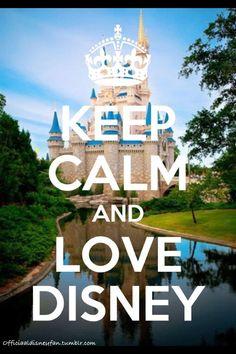 Keep Calm and Love Disney Keep Calm Disney, Disney Love, Disney Magic, Disney Parks, Walt Disney World, Disney Pixar, Dreams Do Come True, My Dream Came True, Keep Calm Wallpaper
