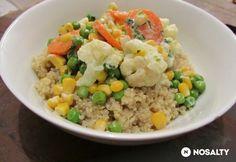 Zöldségragu citromos quinoával kókusztejjel