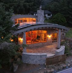 Cannon Beach residence.  Green home.