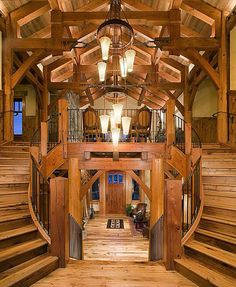 Log cabin grand entrance