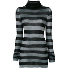 Nude striped jumper ($375) ❤ liked on Polyvore featuring tops, sweaters, black, jumper tops, nude tops, striped top, stripe top and multi stripe sweater