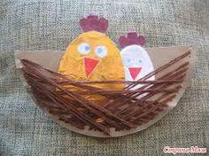 Картинки по запросу поделки птичка в гнезде