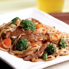 Beef Chow Fun - used fresh chow fun noodles from the asian market.  Added more black bean sauce, soy sauce, sugar, a little rice vinegar, salt and pepper.