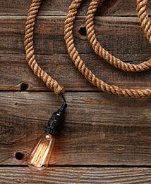 Jute Rope Electrical Cord Swag Kit