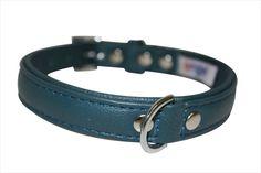 Angel Pet Supplies Alpine Plain Dog #Collar in Ocean Blue