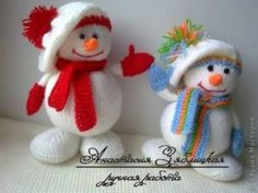Knitted Snowman Patterns Free Video Tutorial