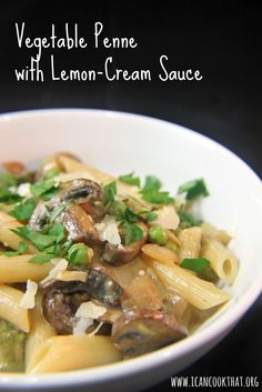Pasta on Pinterest | Mushroom Pasta, Tomatoes and Lemon Pasta Sauces