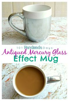 Take a boring old mug to a whole new level of awesome with this Antiqued Mercury Glass Effect Mug tutorial!!