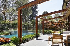Photos from landscape design and garden design projects by Ian Barker Gardens. Backyard Pool Designs, Swimming Pools Backyard, Backyard Landscaping, Garden Design Images, Landscape Design, Pergola With Roof, Gazebo, Outdoor Pool, Outdoor Gardens
