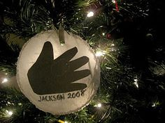 Handprint ornaments.  Super classroom idea.