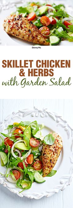 A simple recipe that's easy to make for just one person: Skillet Chicken and Herbs with Garden Salad.
