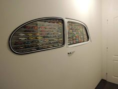 That's one way to store some model cars.