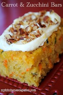 Carrot and Zucchini Bars with Lemon Sauce ~ Type O