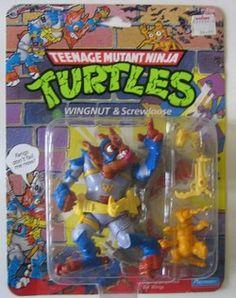 Top 10 Teenage Mutant Ninja Turtles action figures. Wingnut and Screwdriver TMNT