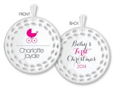 These stunning porcelain Christmas ornaments are the perfect keepsake to add to your Christmas tree every year. These also make a perfect Christmas gift to give to someone special.  Product Details: Made out of porcelain with filagree detail cut out around the edge Size is 8cm in diameter Comes with a ribbon to hang Double sided print Permanent ink that won't rub off or wear off