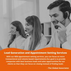 With our B2B appointment setting services, you can focus on more transactional and volume based requirements.Our goal is to provide companies with best business leads and sales opportunities for our clients so that they can focus on closing instead of finding leads. #b2bappointmentsetting #b2bleadgeneration #b2bsales #b2bleadgenerationcompanies #b2bleadgenerationservices