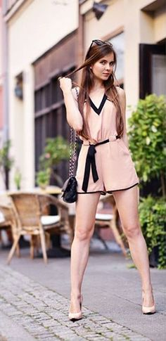 Strike a Pose // We just can't get enough of this look by Ariadna Majewska wearing our slit back romper. #LBSDaily