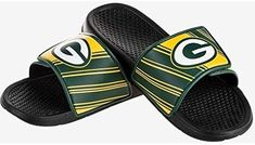 5bedfc571cc Amazon.com   FOCO NFL Green Bay Packers Men s Legacy Velcro Sport Slide  Slippers