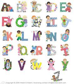 Alfabeto con niños.
