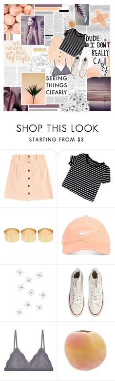 """""""we never go out of style"""" by shannonmarie-xo ❤ liked on Polyvore featuring Nicki Minaj, ASOS, Poesia, Nike Golf, WALL, Converse, Cosabella, purple, peach and stripes"""