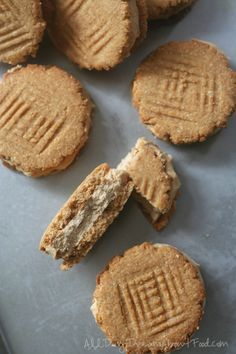 Low Carb Grain-Free Nutter Butter Ice Cream Sandwiches