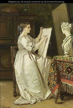 The Artist At Work, by Charles Francois Pecrus