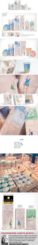 Pentaward winning ВЫСОКО-ВЫСОКО (SKY-HIGH) Depot WPF milk packaging concept by Vera Zvereva on Behance curated by Packaging Diva PD
