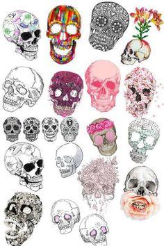 черепа искусства Высокий татуировки цветы черепа акварельные удивительные красочные цветочные кости скелета сахара черепа просто flowercrown цветок черепа